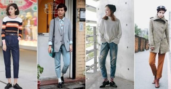 中性女孩 Boyish Style:破褲、軍裝、短靴