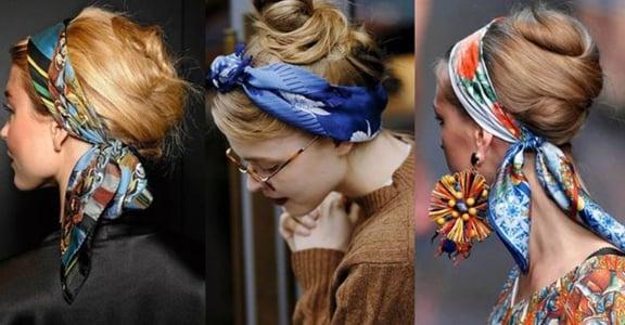 厭倦呆板長髮?一條方巾翻新你五種造型