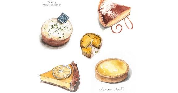 「畫畫就是生活的魔法」療癒的水彩甜點插畫集