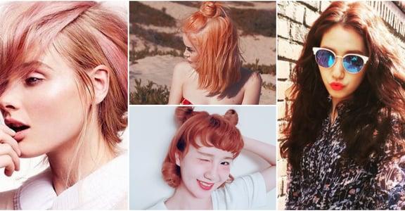 蜜桃、夕陽紅、玫瑰粉金!任何膚色都適用的秋冬趨勢染髮