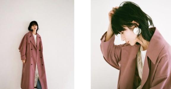松本惠奈的氣勢穿搭學起來:高腰褲、過膝大衣、長洋裝