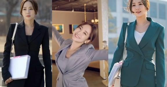 《她的私生活》朴敏英穿搭:同色系套裝,氣勢而溫柔