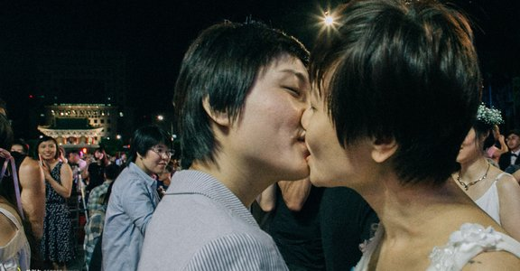 王小棣證婚!凱道同婚宴攝影集:這一刻,有人等了 30 年