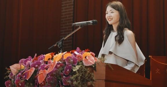 江孟芝畢業演說:三十歲以後,我發現世界其實是公平的