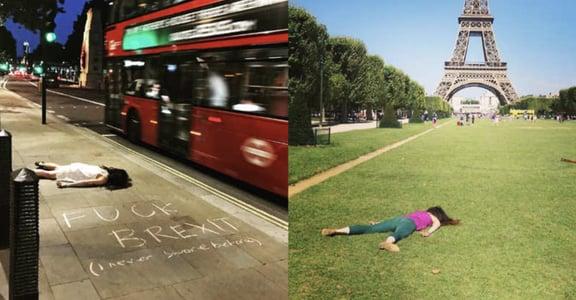 不一樣的世界旅行紀錄!IG 爆紅,讓你看了會療癒的女孩「躺屍照」
