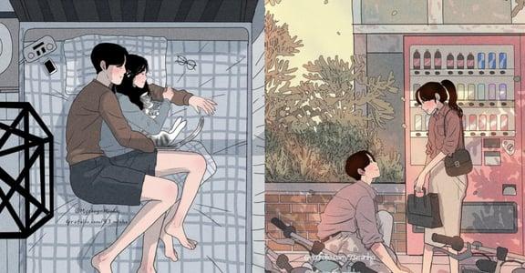 韓國戀愛插畫:你一個擁抱,足以讓我再次動心
