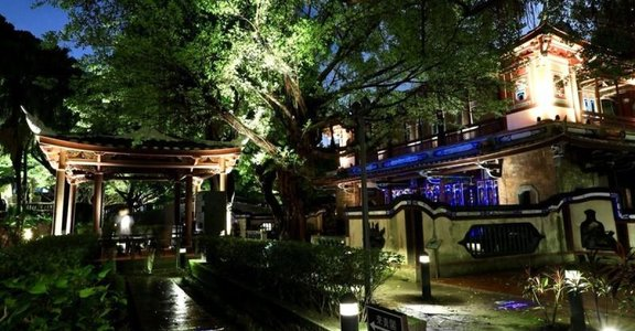 結合復古與現代!板橋人帶路,夜間光雕秀