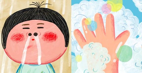 「家長不在身邊時,也能好好照顧自己」給兒童的三部防疫繪本
