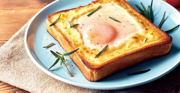 氣炸鍋食譜:只要 8 分鐘,就能做出半熟太陽蛋吐司