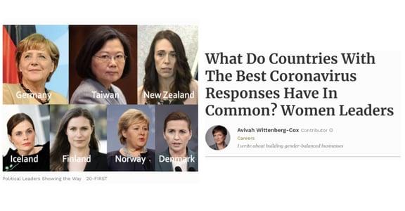 「防疫有成的國家,都是由女性領導!」最重要的,是讓政策擺脫性別枷鎖