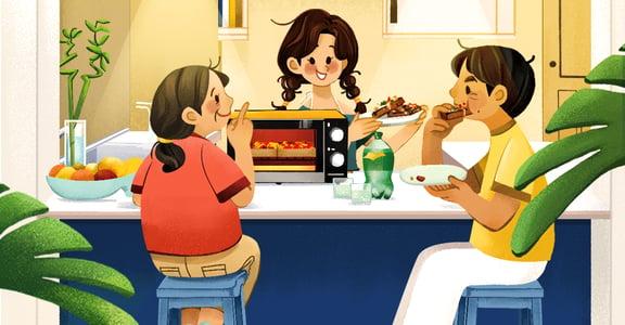 【夏天餐桌故事】焗烤吐司披薩:一起做道料理,就像一起守護這個家