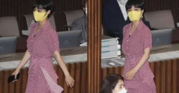 「你是來收飲料費的小姐?」韓國女議員的粉色洋裝反擊:西裝不代表國會權威