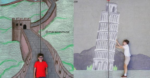 14 歲姐弟的 100 天粉筆環遊世界:如果無法出國旅行,就自己創造世界