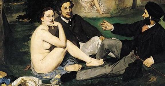 「草地上的午餐」中裸女代表的意義