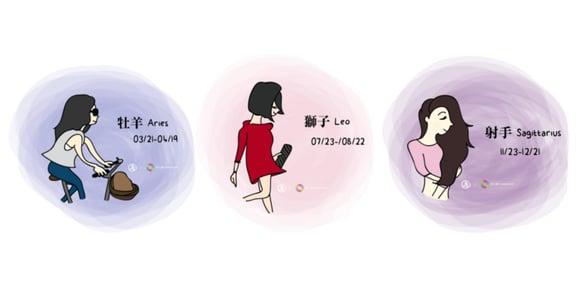 【插畫星座專欄】牡羊、獅子、射手:火象星座的命定香氣