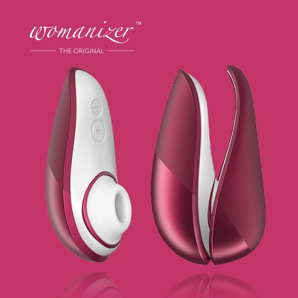 Womanizer|LIBERTY 吸吮愉悅器 /酒紅|LHH 的圖片