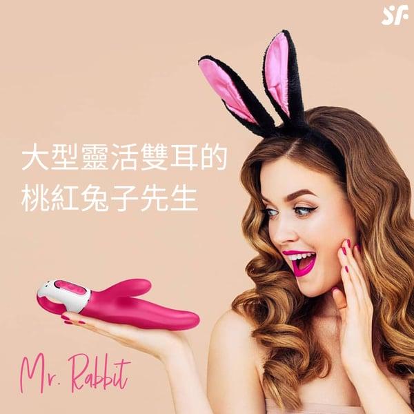 Satisfyer|Mr. Rabbit 桃紅兔子先生 雙點按摩棒|LHH 的圖片