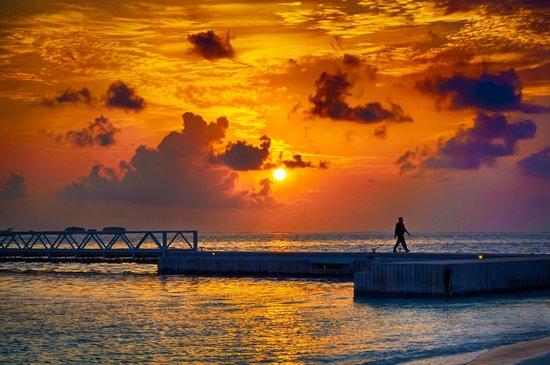 beautiful sunset by the bridge  - 拉格利島馬爾代夫港麗度假酒店的圖片