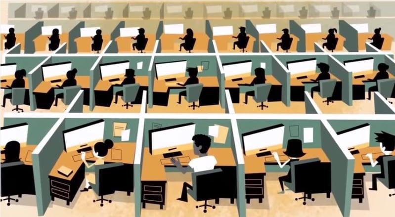 sit in office
