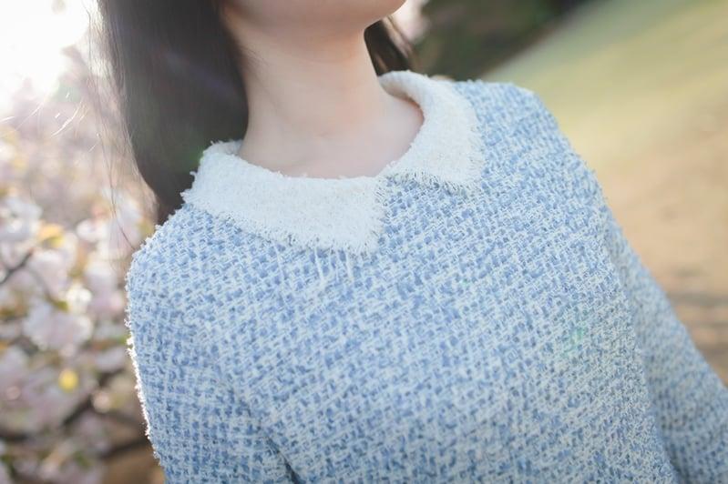 tweed collar dress