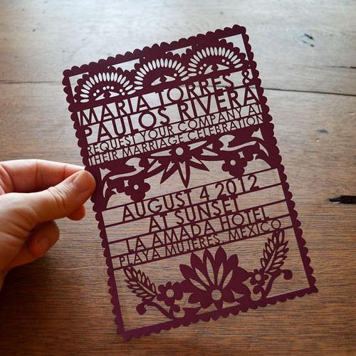 PAPEL PICADO WEDDING INVITATIONS 精雕細琢的結婚喜帖 womany.net