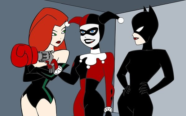 Harley quin and catwoman