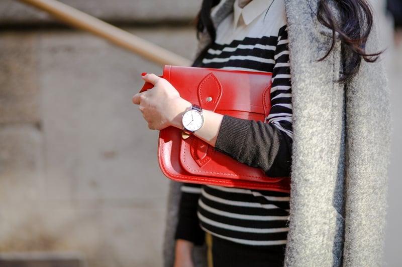 red cambridge satchel fashion
