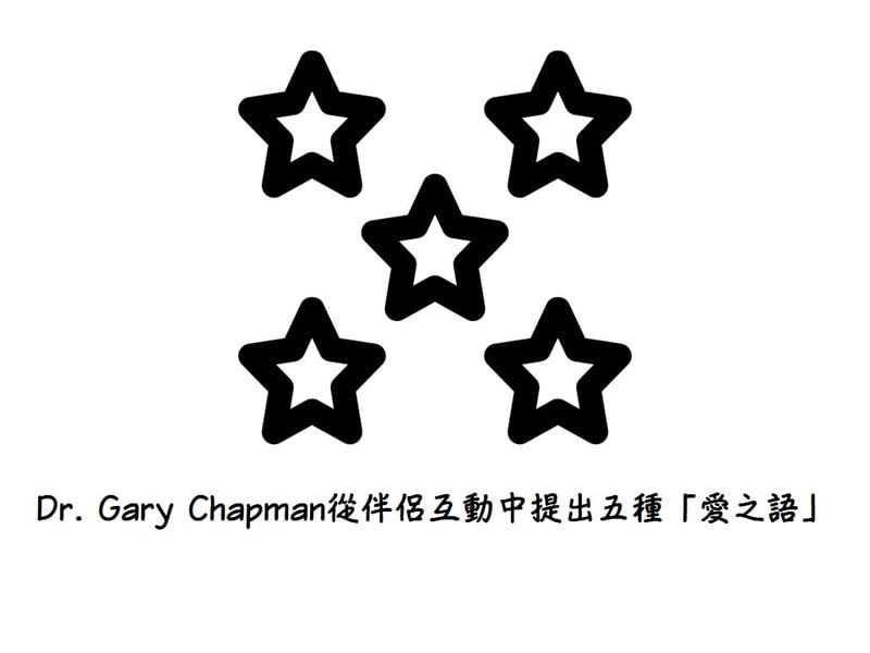 Dr. Gary Chapman 從伴侶互動中提出五種愛之語