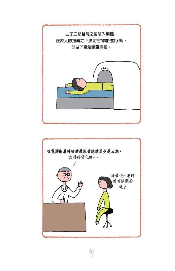 去了三間醫院之後陷入煩惱,在眾人的推薦之下決定在B醫院動手術,並做了電腦斷層掃描