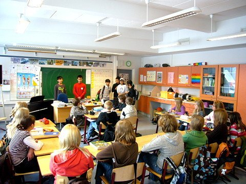 芬蘭教室的一景