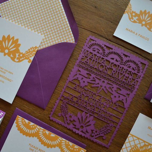 PAPEL PICADO WEDDING INVITATIONS 精雕細琢的結婚喜帖 womany.net