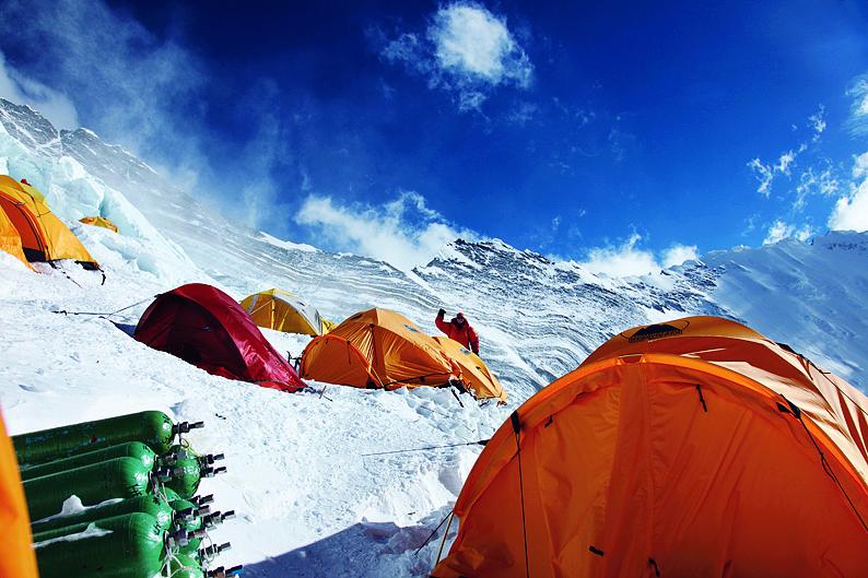 珠峰C3 營地。