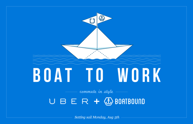 boat to work-uber