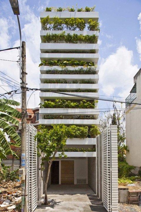在越南的公寓遇見熱帶雨林 Stacking Green