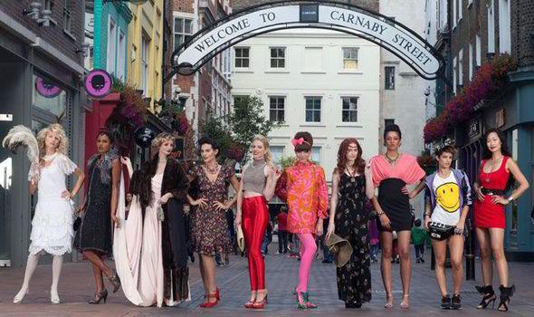 百年時尚遊行,現身倫敦卡納比大街