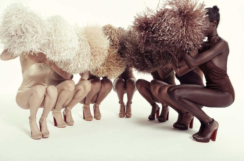 Christian Louboutin於2016年將旗下品牌的裸色系產品,擴大至7種深淺不同的色調,該系列的設計靈感大多來源於芭蕾舞鞋。(網上圖片)