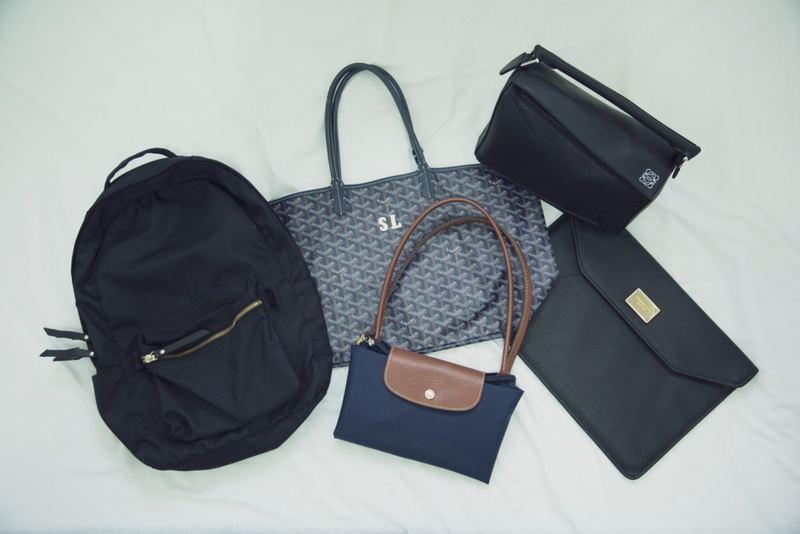 Sharon現時只有5個手袋(包括Notebook袋),每個手袋也能應用於不同場合。(龔嘉盛攝)