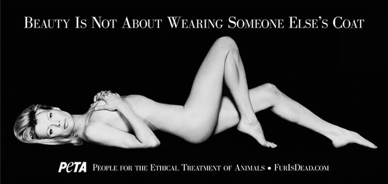 「I'd Rather Go Naked Than Wear Fur」廣告(PETA)