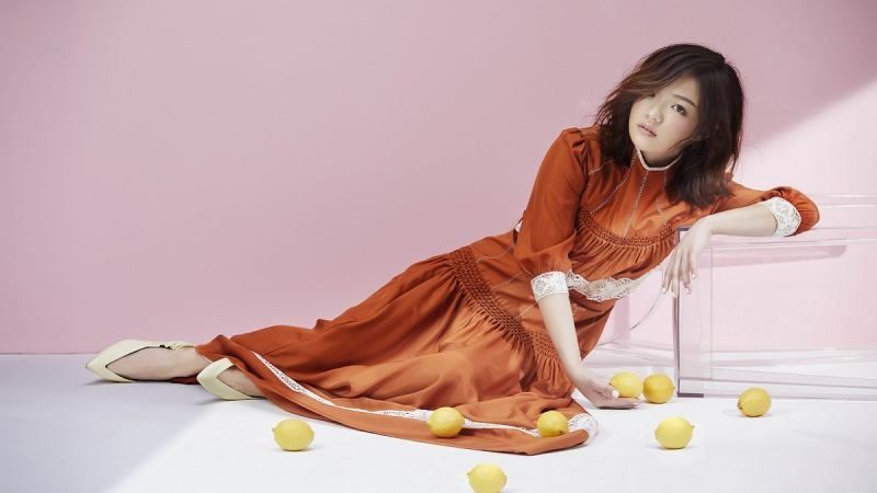 高領澎袖連衣裙,Dior。淺口尖頭跟鞋,Céline。