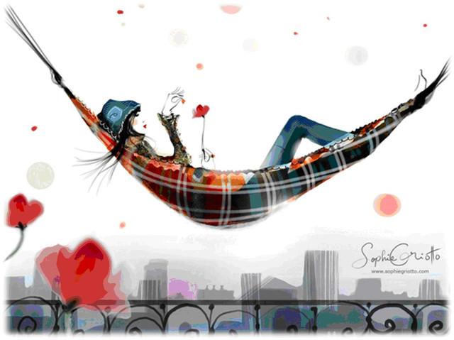 慵懶法式的時尚插畫 Sophie Griotto