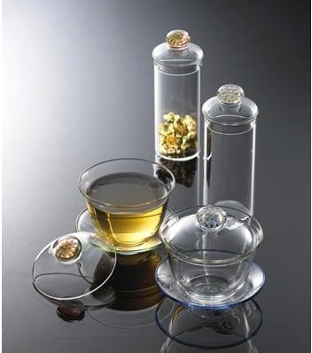 Mizar 花釦茶葉罐+勺