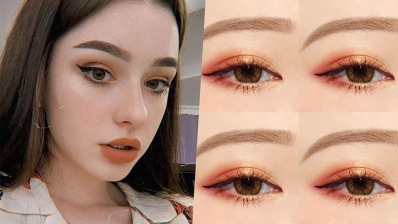 眼線膠筆新手也很好掌握,簡單畫出不同變化的眼妝。